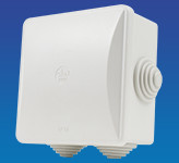 IP44 Junction Box 80 x 80 x 40mm Glanded
